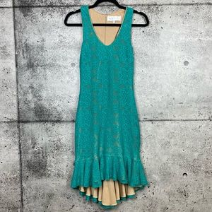 Dress The Population | Lace Overlay Mermaid Dress